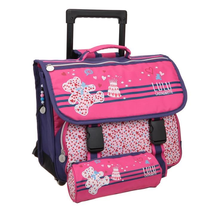 cartable roulette fille