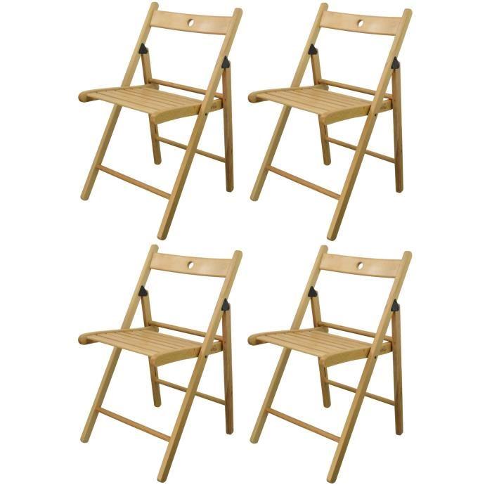 chaise bois pliante