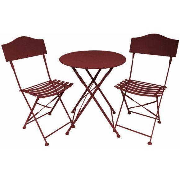 chaise et table de jardin