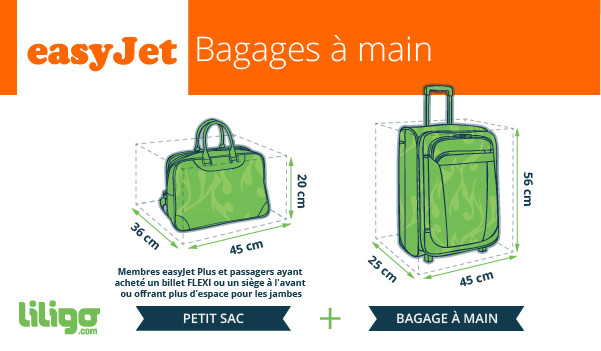 easyjet bagage cabine et sac a main