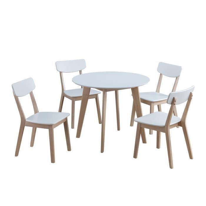 ensemble table ronde et chaise