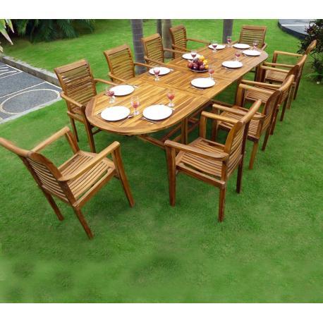 table teck jardin