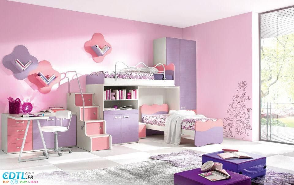 chambre de fille de 8 ans
