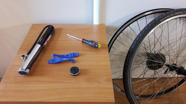 changer pneu vélo