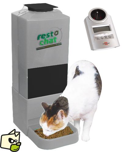 distributeur de croquettes pour chat programmable