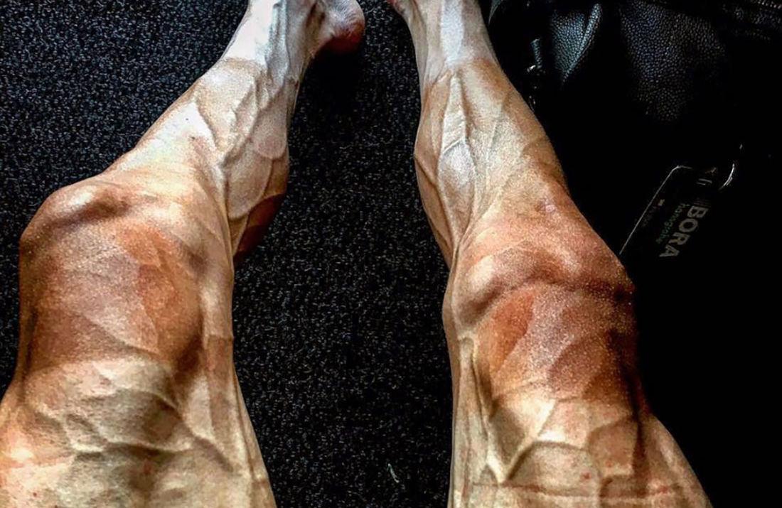 jambes de cycliste