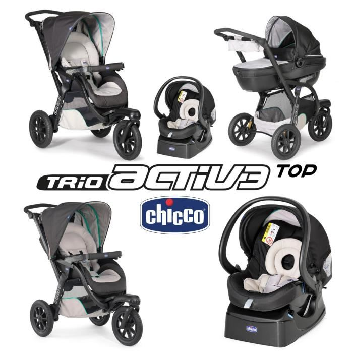 poussette 3 roues chicco