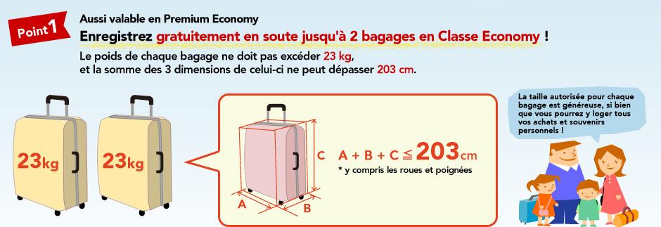 taille des bagages en soute