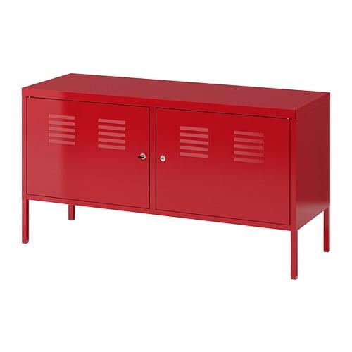 armoire metallique rouge