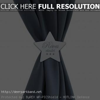 attache rideau pince