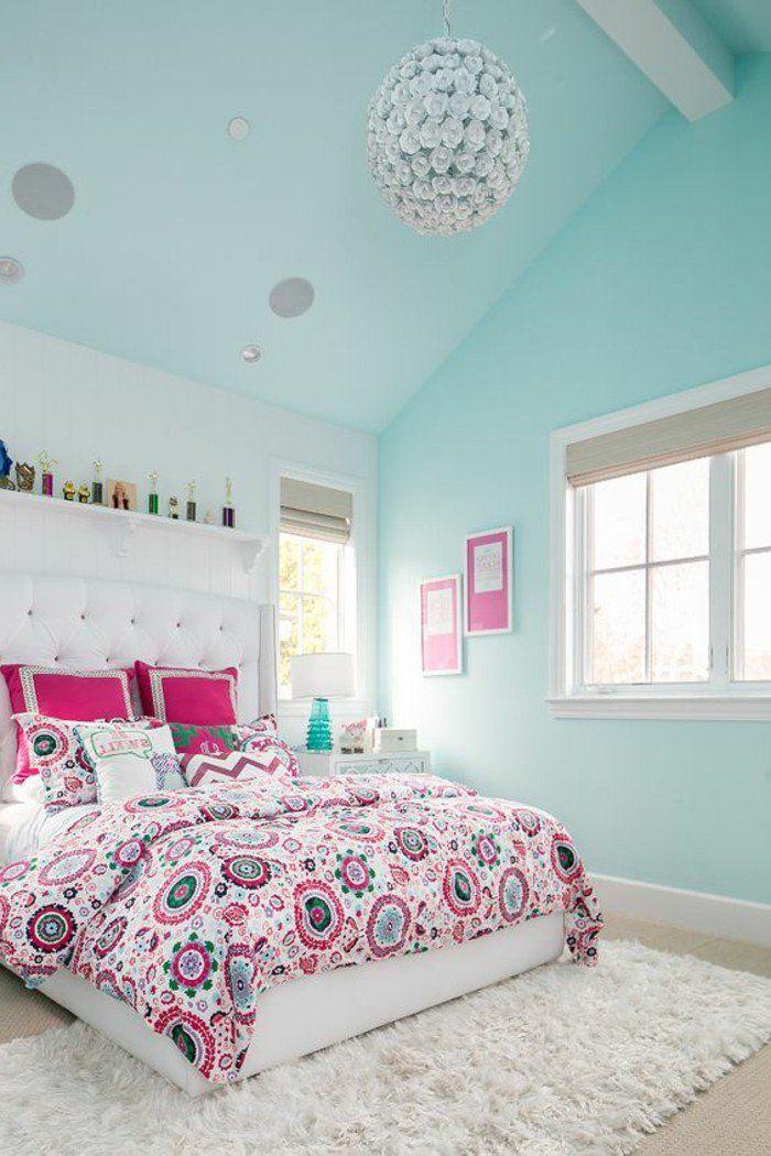 chambre fille bleu