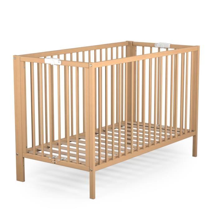 lit pliant bébé en bois