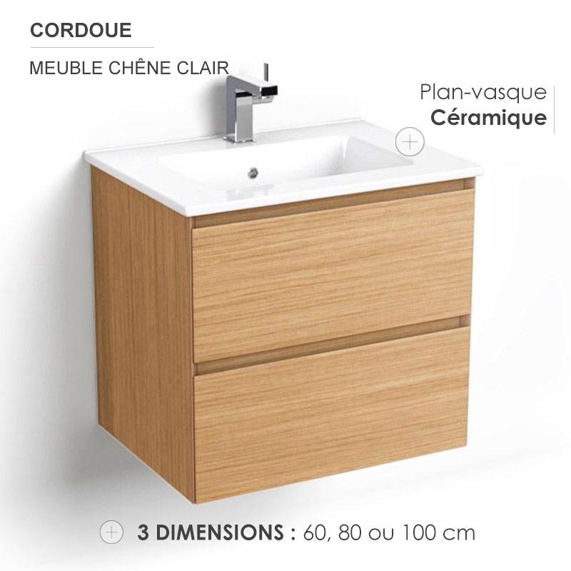 Générique Meuble de Salle de Bain Simple Vasque 60 cm L 60 ...