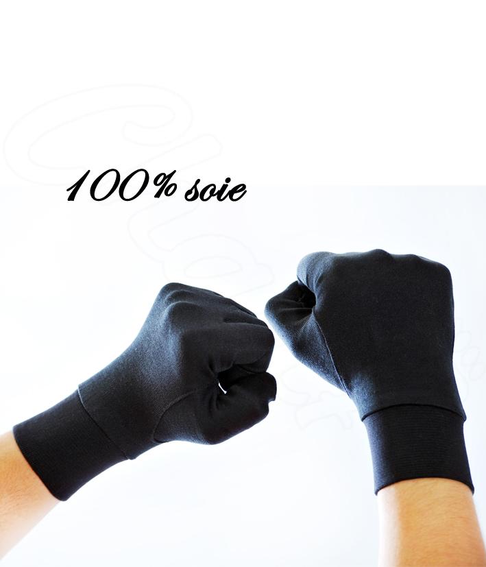 gants en soie contre le froid